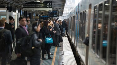 Peak-hour trains in Melbourne are getting more overcrowded.