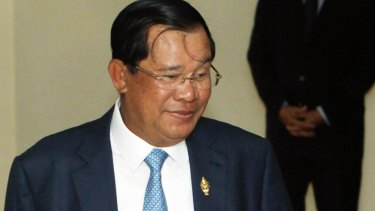 Cambodian Prime Minister Hun Sen in Phnom Penh, on Monday.