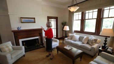 One of Lucy Turnbull's favourite rooms in the Lodge.
