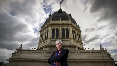 Museum Victoria chief executive Dr Patrick Greene on the  promenade of the Exhibition Building.