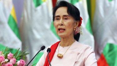 Myanmar's State Counsellor Aung San Suu Kyi.