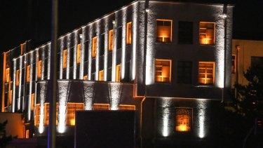 The Turkish military headquarters in Ankara, Turkey, on Friday.