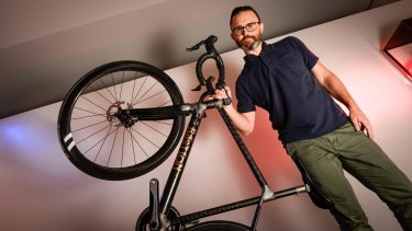 Bastion Cycles co-owner Ben Schultz uses 3D bike printing in his business.