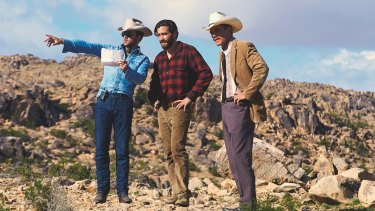 Tom Ford directs actors Jake Gyllenhaal and Michael Shannon on the set of <i>Nocturnal Animals</i>.