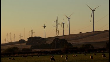 Waubra wind farm, central Victoria.