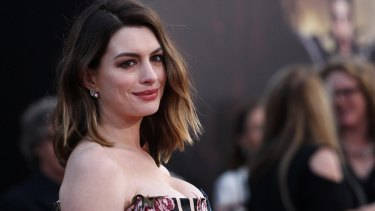 Anne Hathaway attends the premiere of Disney's 'Alice Through the Looking Glass' at the El Capitan Theatre in May, two months after giving birth.