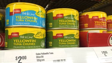 Coles established a policy stating that it would not use overfished yellowfin tuna.