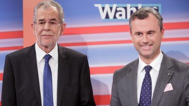 New Austrian President Alexander Van der Bellen, left, and far-right candidate Norbert Hofer.