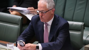 Malcolm Turnbull was not physically present, but the PM hovered over proceedings from the opening question.