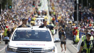 The grand final parade in Melbourne last Friday.