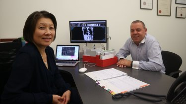 Breast Cancer Research Centre oncologist Arlene Chan and chief executive Carmelo Arto.