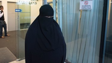 Moutia Elzahed refused to stand for District Court judge Audrey Balla and refused to give evidence without her face covering on.