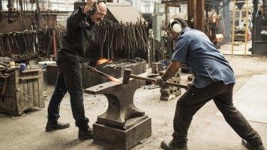 Gouverneur and Antoni Te Wharakaara hard at work.