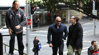 Felix Lyle, Tony Vincent jnr and Lyle's son Dallas Fitzgerald at the Downing Centre in 2010.