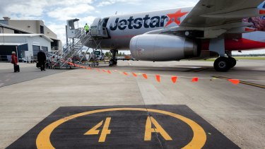 The incident involving a Jetstar A320 occurred at Newcastle Airport in January.