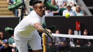 Nick Kyrgios rose to the bait set by British reporters.