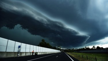 Storm approaches Blacktown, west of Sydney. A thunderstorm event in Melbourne in November last year triggered severe asthma attacks.