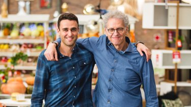 Adam Drexler, the founder and owner of Matt Blatt (right) and his son Joel.
