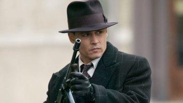 Johnny Depp as John Dillinger in <i>Public Enemies</i>.