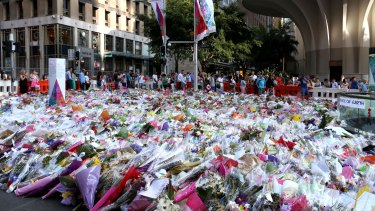 Flowers at Martin Place, Sydney.