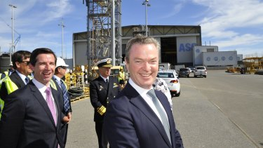 Industry Minister Christopher Pyne could be in trouble in his own seat but a deal on submarine manufacturing might help ease the pressure.