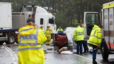 The Berry crash caused the closure of the highway in both directions for more than four hours.