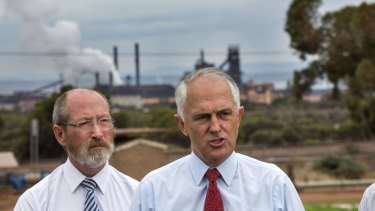 Prime Minister Malcolm Turnbull visits the Arrium steelworks in Whyalla.