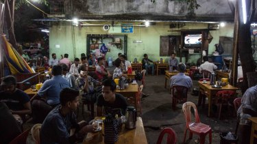 A teashop in Myanmar's Triangle District, where many of the Muslim and Rohingya community live.