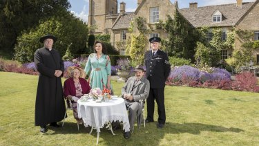 Father Brown is set in the fictional 1950s Cotswold village of Kembleford.
