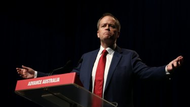Opposition Leader Bill Shorten speaks during the ALP national conference in Melbourne.