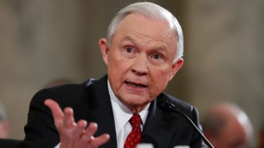 Jeff Sessions told his confirmation hearing in January he had no contact with Russian officials.