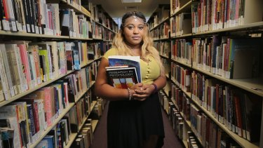 Abena Dove, at RMIT in Brunswick, scrimps on food to pay for textbooks.