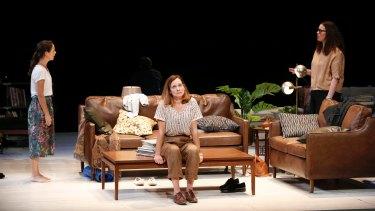 Kate Atkinson, Catherine McClements and Katherine Tonkin in Joanna Murray-Smith's <i>Three Little Words</i>.