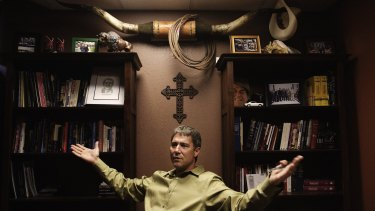 Troy Newman, pictured in his office in Wichita, Kansas.