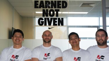 Alex Hsu, Ryan McClelland, Andrew Wong and Kris Hunt of The Next Pair.