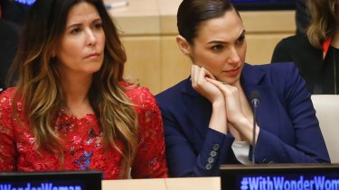 Patty Jenkins, left, director of the new Wonder Woman movie, and its star Gal Gadot, appeared at the UN.