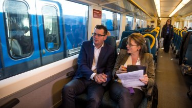 Premier Daniel Andrews and Public Transport Minister Jacinta Allan.