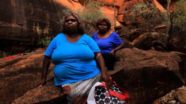 Proposal to grant permits for the exploration of oil and gas puts a traditional way of life in jeopardy: Ulpanyali and Lilla in the Northern Territory's Watarrka National Park.