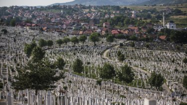 The city cemetery in Sarajevo, Bosnia and Herzegovina.