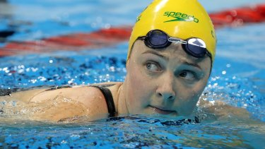 Australia's Cate Campbell after winning a semi-final of the women's 100-metre freestyle.