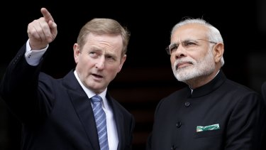Irish Prime Minister Enda Kenny, left, meets Indian Prime Minister Narendra Modi in Dublin, Ireland, last month.