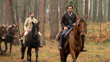 Christian Bale (left) and Oscar Isaac star in the film that tackles the Armenian genocide, albeit from a distance.