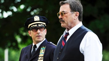Tom Selleck (right) as Frank Reagan in <i>Blue Bloods</i>.