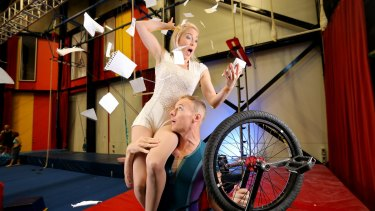 Circus Oz unicyclist and trapeze artists Kyle Raftery and April Dawson are trying to balance the creative life with financial solvency.