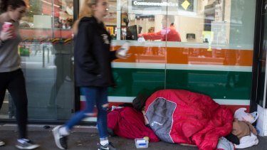More people than ever are sleeping rough in Melbourne's CBD.