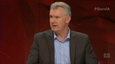 Liberal MP Tony Burke on <i>Q&A</i> on Monday night.