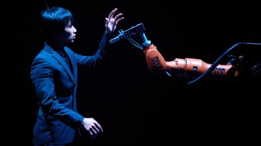 Huang Yi and Kuka is a show where a man dances with a robot.
