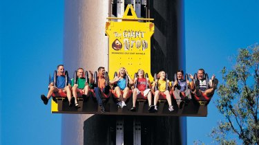 The east side of the Giant Drop at Dreamworld on the Gold Coast has reopened.