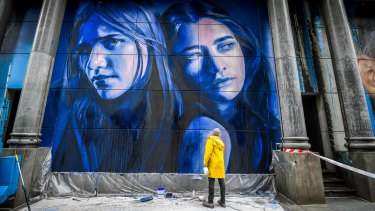Rone has painted two of his 'Melbourne muses' as part of the official street art project.