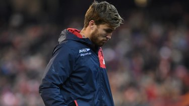 Jack Viney suffered an injury during the game against the Swans.